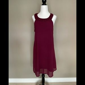 Another Story Medium Maroon Baby Doll Dress NWOT